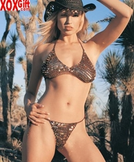 Hologram Sequin Crochet Bikini Set LA 8401