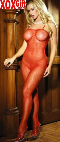 Womens Open Crotch Seamless Fishnet Bodystocking EM 1605