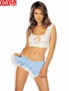 Hot Crop With Cherub Angel & Mini Skirt R-96844