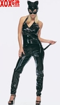 SALE!!!  PVC Halter Catsuit With Tail & Mask LA V6002