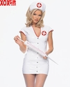 2 Pc Vinyl Nurse Costume LA V5141