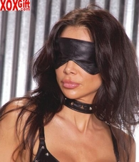 Leather blindfold   EM L9152
