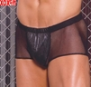 Leather and fishnet shorts EM L9131