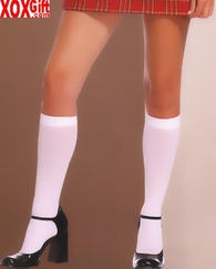 Opaque Nylon Knee Highs LA 5572