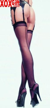 Plus Size Sheer Back Seam Stockings EM 1000Q