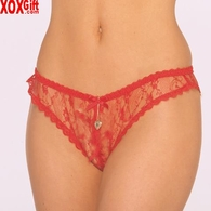 Crotchless lace With gold locket EM 2320