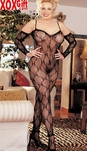 Plus Size Crotchless Bodystocking  X6619