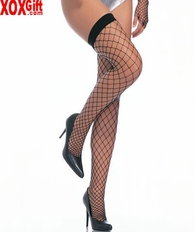 Fence Net Thigh High Stockings.  Big Hole Fishnets In Colors! LA 9014