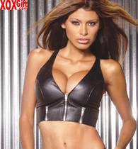 Leather zip front halter top With zipper detail, shown With L9203 EM L4113