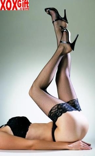 Fishnet Thigh High Stockings With Lace Tops EM 9027