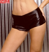 Leather hot pants With zip up back, shown With L4113 EM L7103