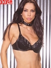 Maximum Support!  Womens Studded Underwire Leather Bra. EM L5101
