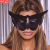Leather cat mask   EM L9156