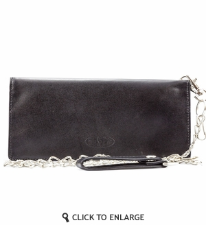 Leather Motorcycle Wallet w/chain