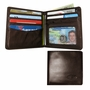 Leather Hybrid World Bi-Fold Wallet with Zippered Pocket