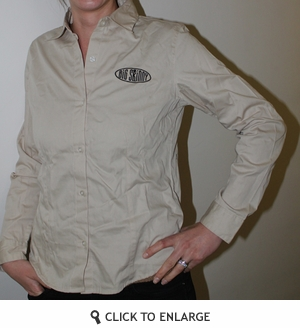 Khaki Button Down Shirt for Women