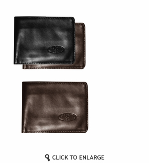Leather Hybrid Bi-Fold COMPACT Wallet