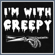 I'm With Creepy T Shirt Creepshow Horror Weird Tee Shirts