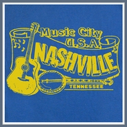 Nashville T Shirt Bluegrass Vintage Retro Banjo Country Tee