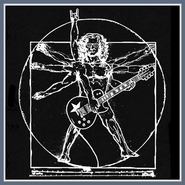 Da Vinci Guitar Man T SHIRT Rock Electric Tee
