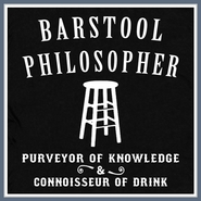 Barstool Philosopher T Shirt Beer Bar Pub Geek Philosophy Tee