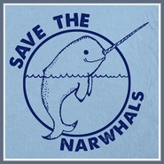 Save The Narwhals T Shirt Whales Unicorn Tee