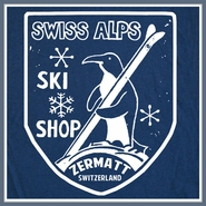 Swiss Alps Ski T Shirt Snowboard Skiing Zermatt Switzerland Tee