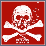 SCUBA T SHIRT South Africa Diving Dive Flag Skull Tee