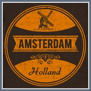 Amsterdam T Shirt Vintage Funny Beer Dutch Windmill Tee