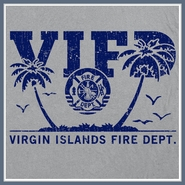Virgin Islands Fire Department T Shirt Fireman Tee