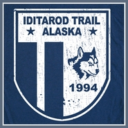 Iditarod Trail T Shirt Sled Dog Fox Racing Alaska Vintage Tee