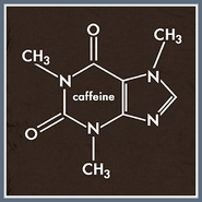 Coffee T Shirt Molecule Caffeine Red Bull Geek Funny Tee