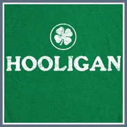 Hooligan T Shirt Irish Green Clover Funny Lucky Tee