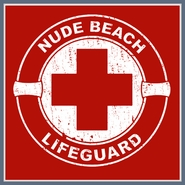 Nude Beach Lifeguard T Shirt Funny Rude Sexual Offensive Tee