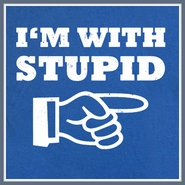 I'm With Stupid T Shirt Funny T Shirt Saying Humor Retro Tee
