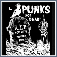 Punks Not Dead T Shirt The Exploited Ramones CBGB Tee