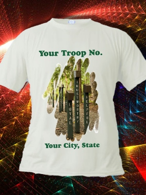 Scouting Themed T-Shirt V2 - Personalized