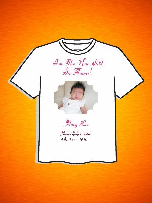 NEW KID IN TOWN PHOTO T-SHIRT OR ONESIE