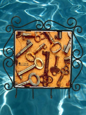 Wrought Iron Frame with Hooks