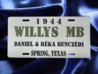 CUSTOM PRINTED LICENSE PLATES