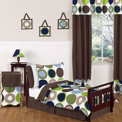 Designer Dot Modern Kids Toddler Bedding by Sweet Jojo Designs - 5pc Set