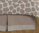 Queen Kids Childrens Bed Skirt for Giraffe Neutral Bedding Sets by Sweet Jojo Designs