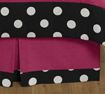 Queen Bed Skirt for Hot Dot Modern Childrens Teens Bedding Sets by Sweet Jojo Designs