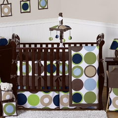 Designer Dot Modern Baby Boys Bedding by Sweet Jojo Designs - 9 pc Crib Set
