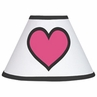 Pink and Black Hearts Lamp Shade by Sweet Jojo Designs