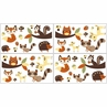 Forest Friends Baby and Kids Wall Decal Stickers - Set of 4 Sheets