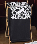 Baby and Kids Clothes Black and White Isabella Laundry Hamper by Sweet Jojo Designs