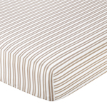 Giraffe Fitted Crib Sheet for Baby/Toddler Bedding by Sweet Jojo Designs - Stripe