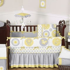 Mod Garden Girls Baby Bedding - 9 pc Crib Set by Sweet Jojo Designs