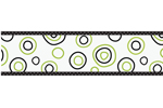 Spirodot Lime and Black Kids and Baby Modern Wall Border by Sweet Jojo Designs